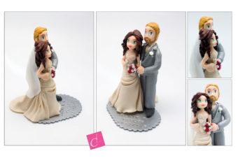 le cake topper de Jackie et Taylor