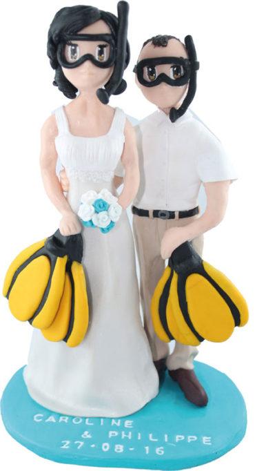 Les figurines personnalisées de Caroline et Philippe