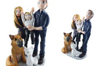 les figurines personnalisées de Céline et Romain