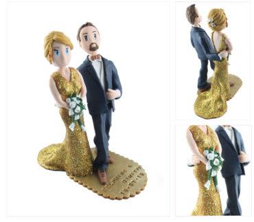 Le cake topper de Delphine et Dimitri