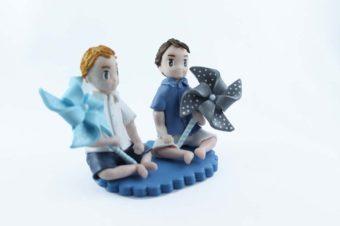 les figurine de baptême de Nolan & Aubin
