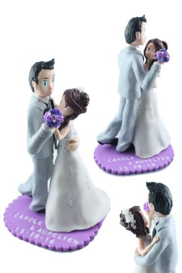 les figurines de mariage de Carole et Aurelien