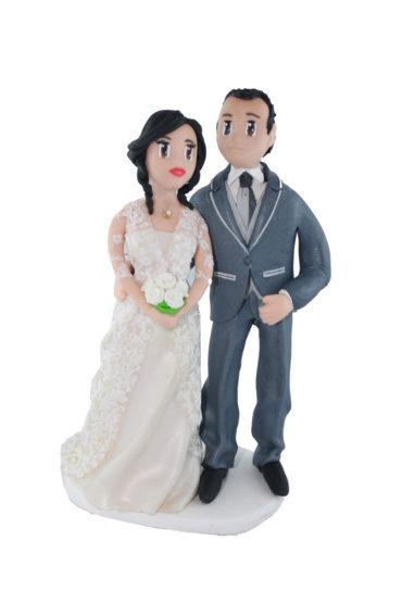 le cake topper de Laure et Jean-Michel