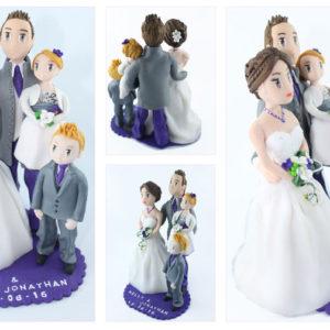 Figurines personnalisées pour les mariages en famille