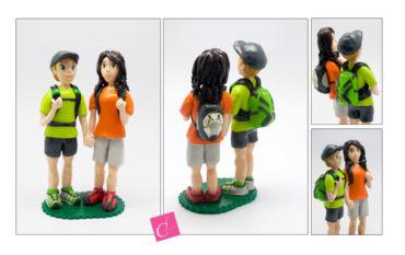 les figurines personnalisées de Melinda et Jennifer