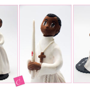 Figurines personnalisées pour les baptêmes et communions