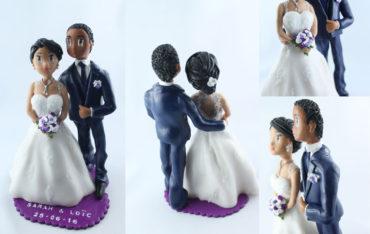 la figurine personnalisée de Sarah et Loïc