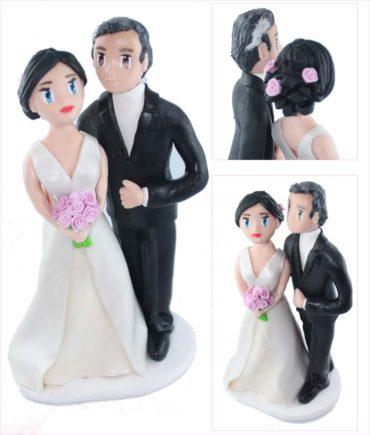 figurines de mariage de Christophe et Michelle