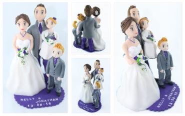 Le cake topper de Nelly, Jonhatan et leurs enfants